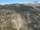 Yosemite Valley is so far below us! You can see Yosemite Falls towards the lower left corner