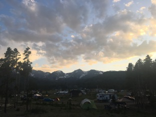 Sunset in Glacier Basin Campground